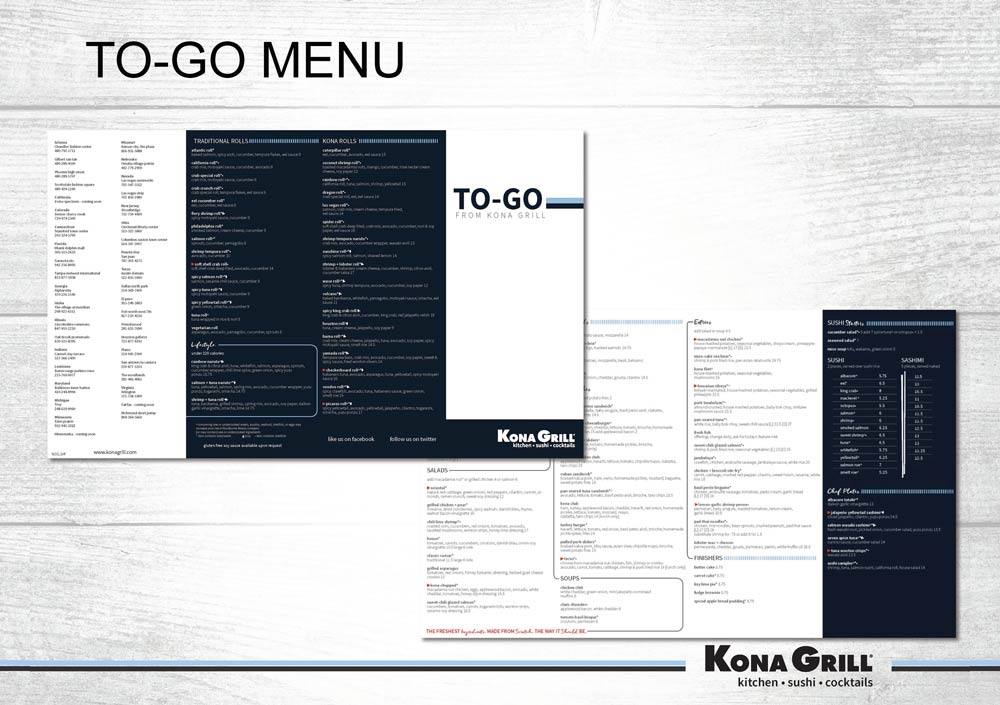restaurant to-go menu design